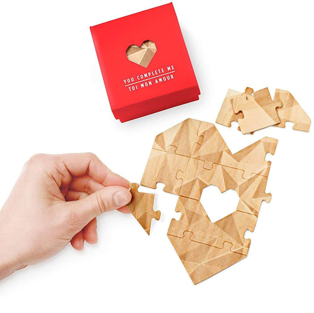 Valentine's Day gifts for her, wife, girlfriend - You Complete Me Puzzle