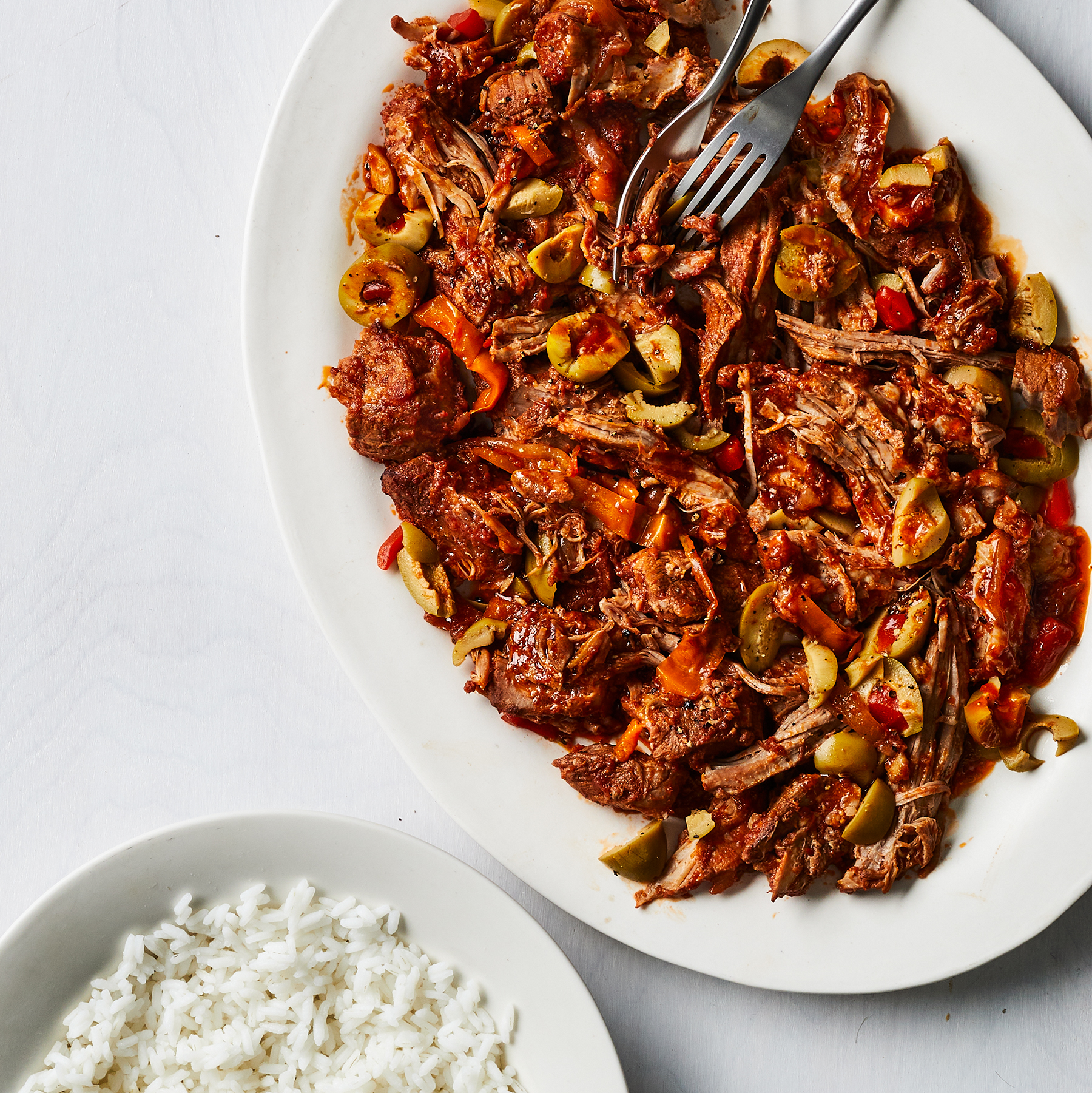 Slow Cooker Pork with Peppers and Olives