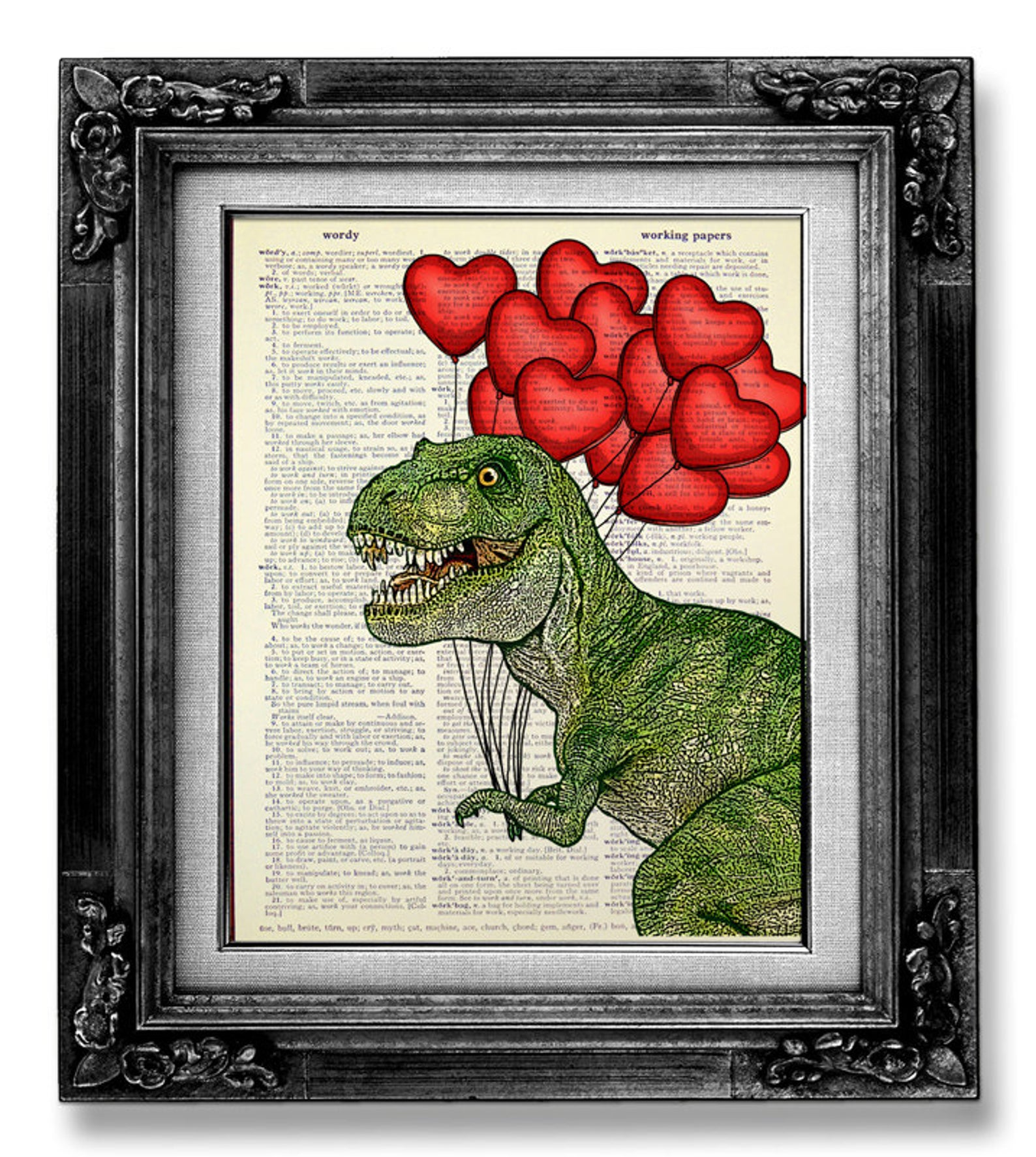 Dinosaur Print for a Valentine's Day Gift for Kids