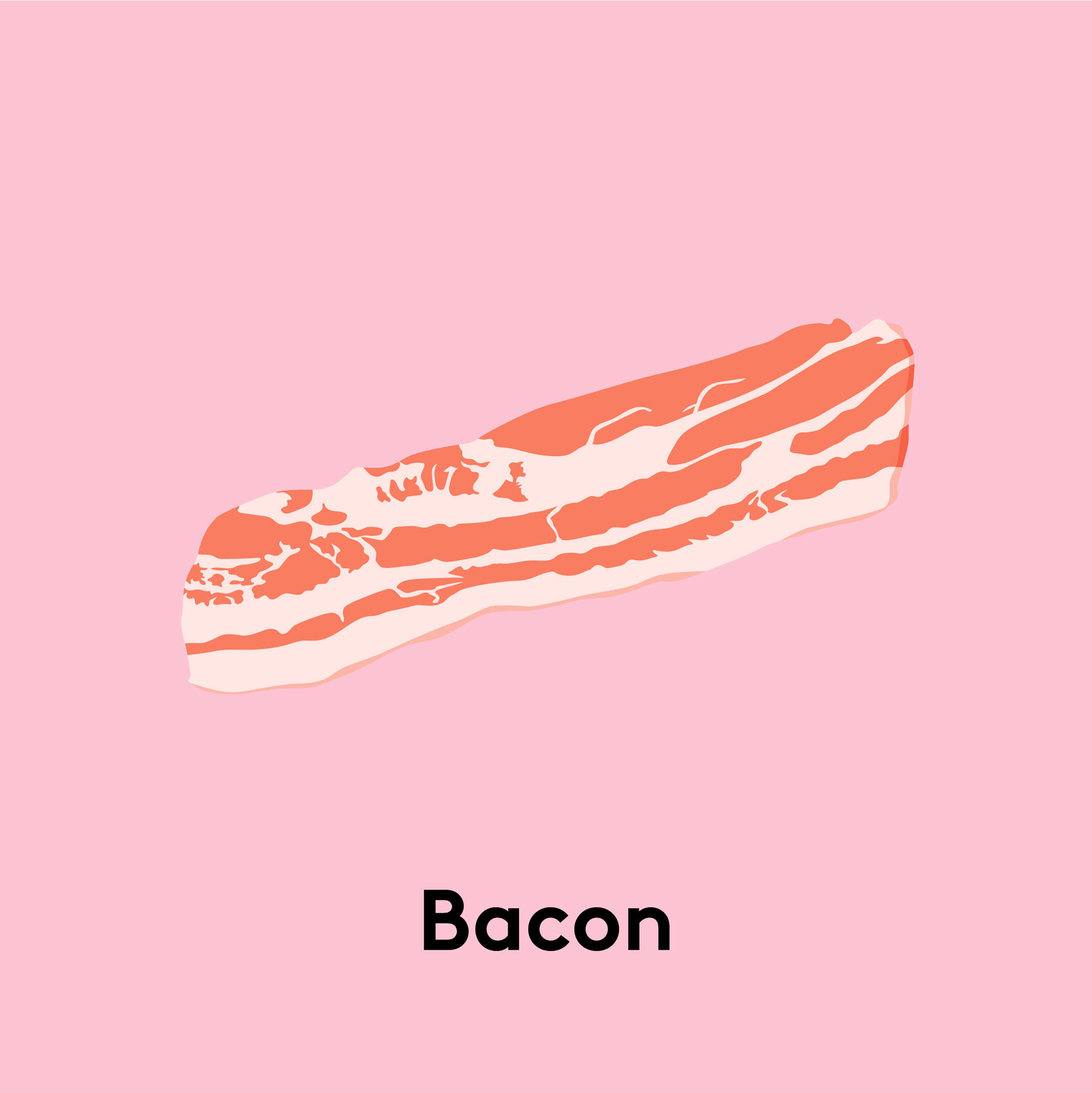 Types of pork cuts - Bacon