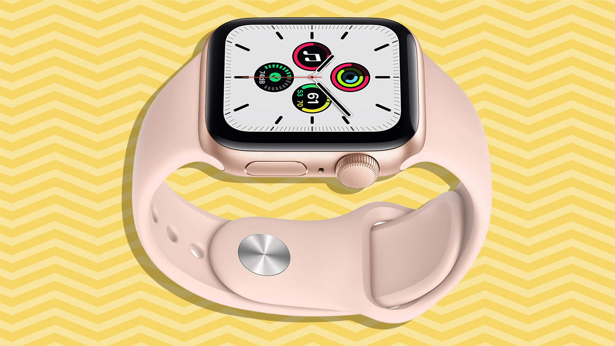 Best gifts for her, gift ideas for women - apple watch on yellow background tout