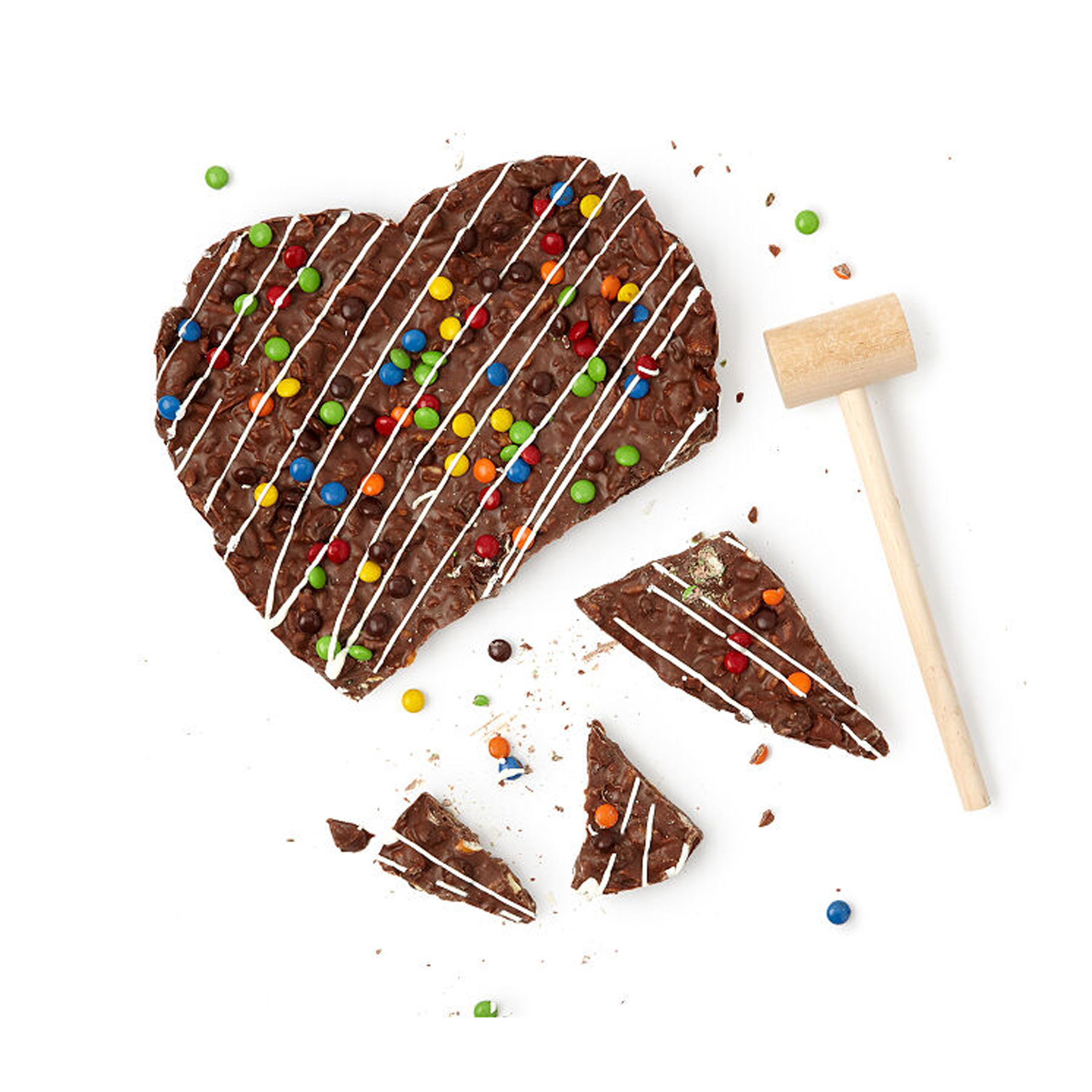 Funny Valentine's Day Gifts: Uncommon Goods broken heart chocolate heart pizza