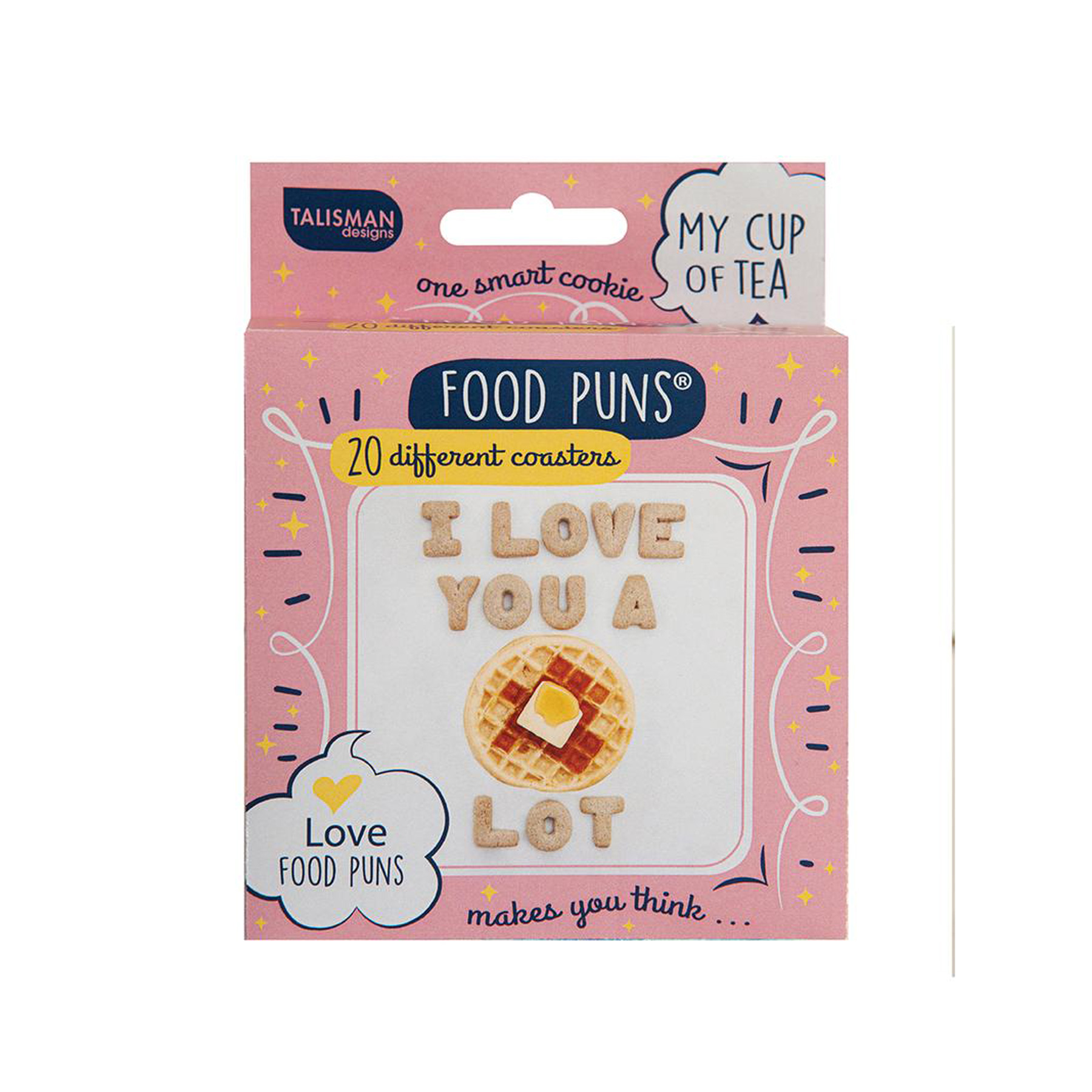 Funny Valentine's Day Gifts: Love-Themed Food Pun cardboard coasters
