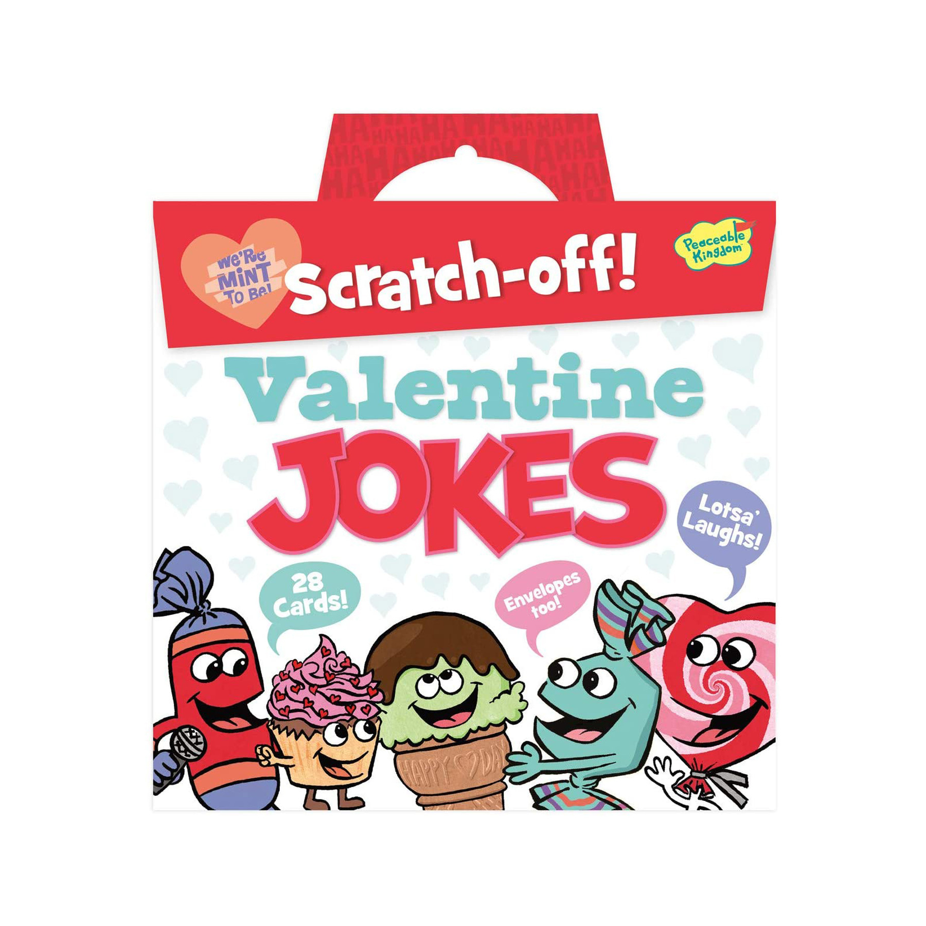 Funny Valentine's Day Gifts: Peaceable Kingdom Scratch-Off Valentine Jokes for kids