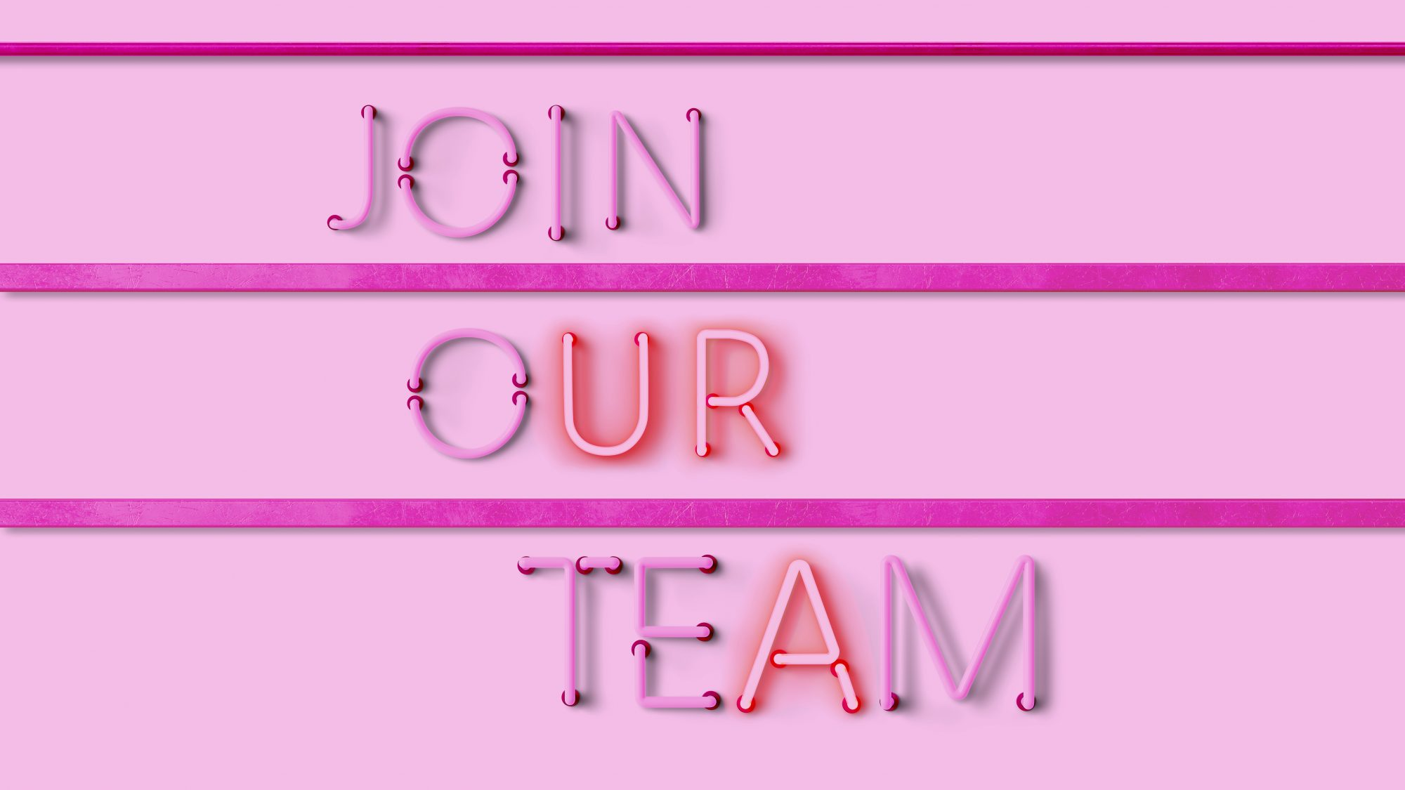 The Best Work From Home Companies 2021 from FlexJobs: pink neon hiring sign