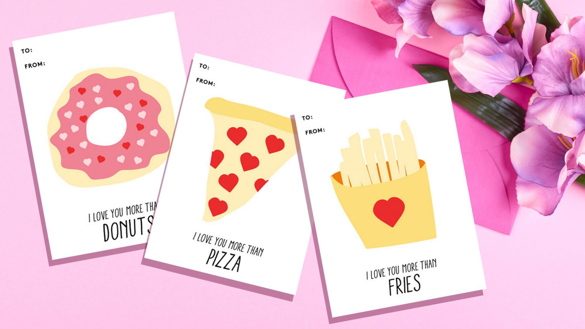 Free printable Valentines cards - printable templates for last-minute Valentines (cards)
