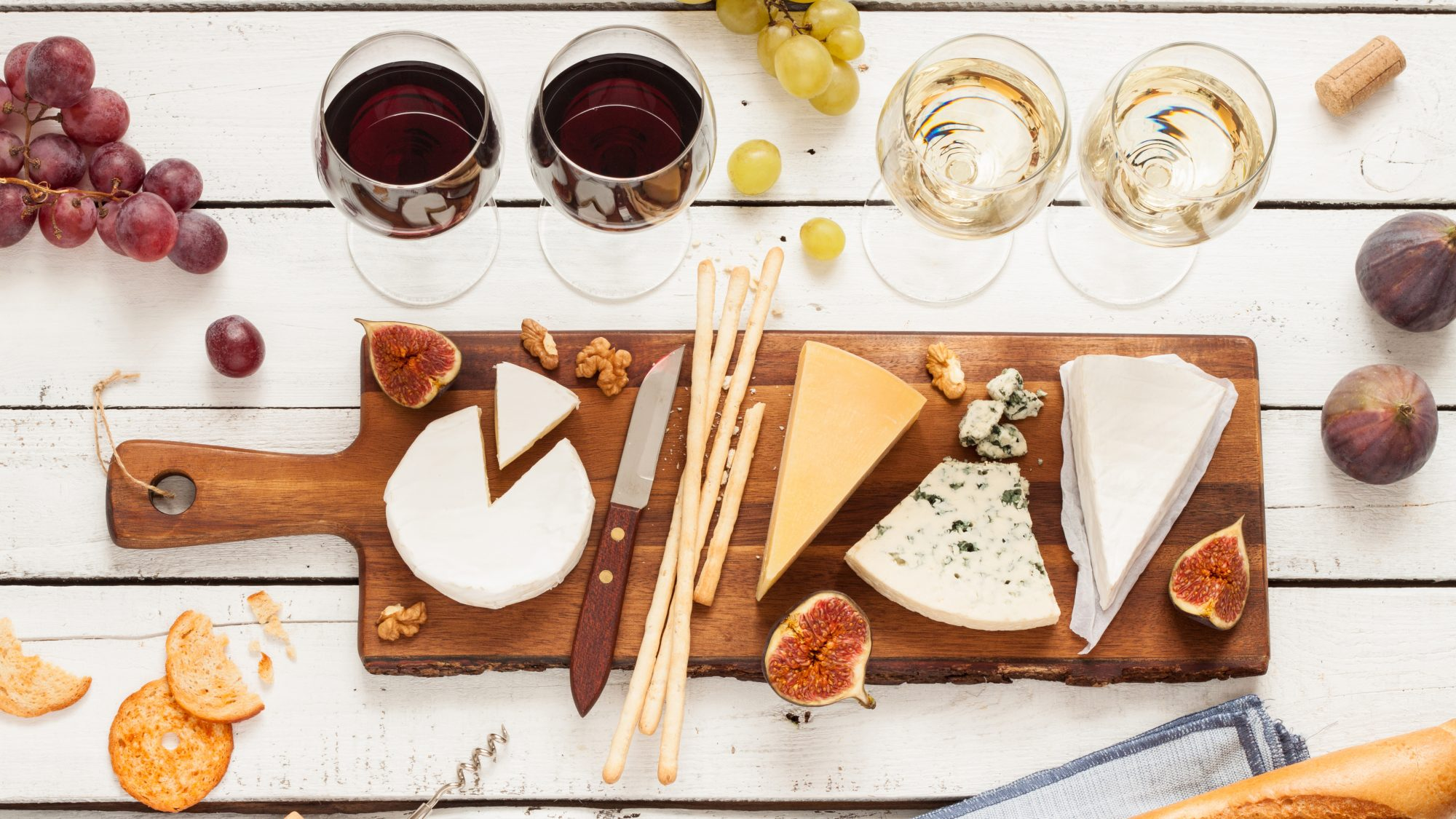 Wine and cheese pairings - wine and cheese picture