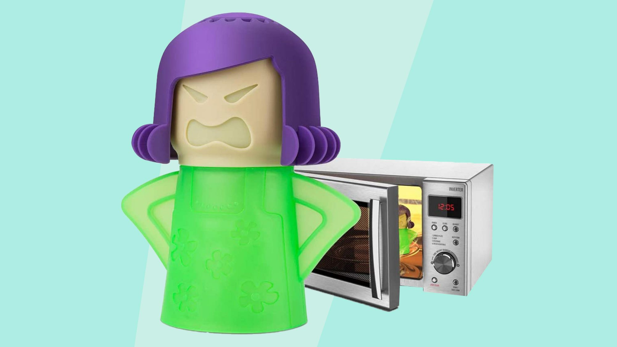 TOPIST Angry Mama Microwave Cleaner Angry Mom Microwave Oven Steam Cleaner