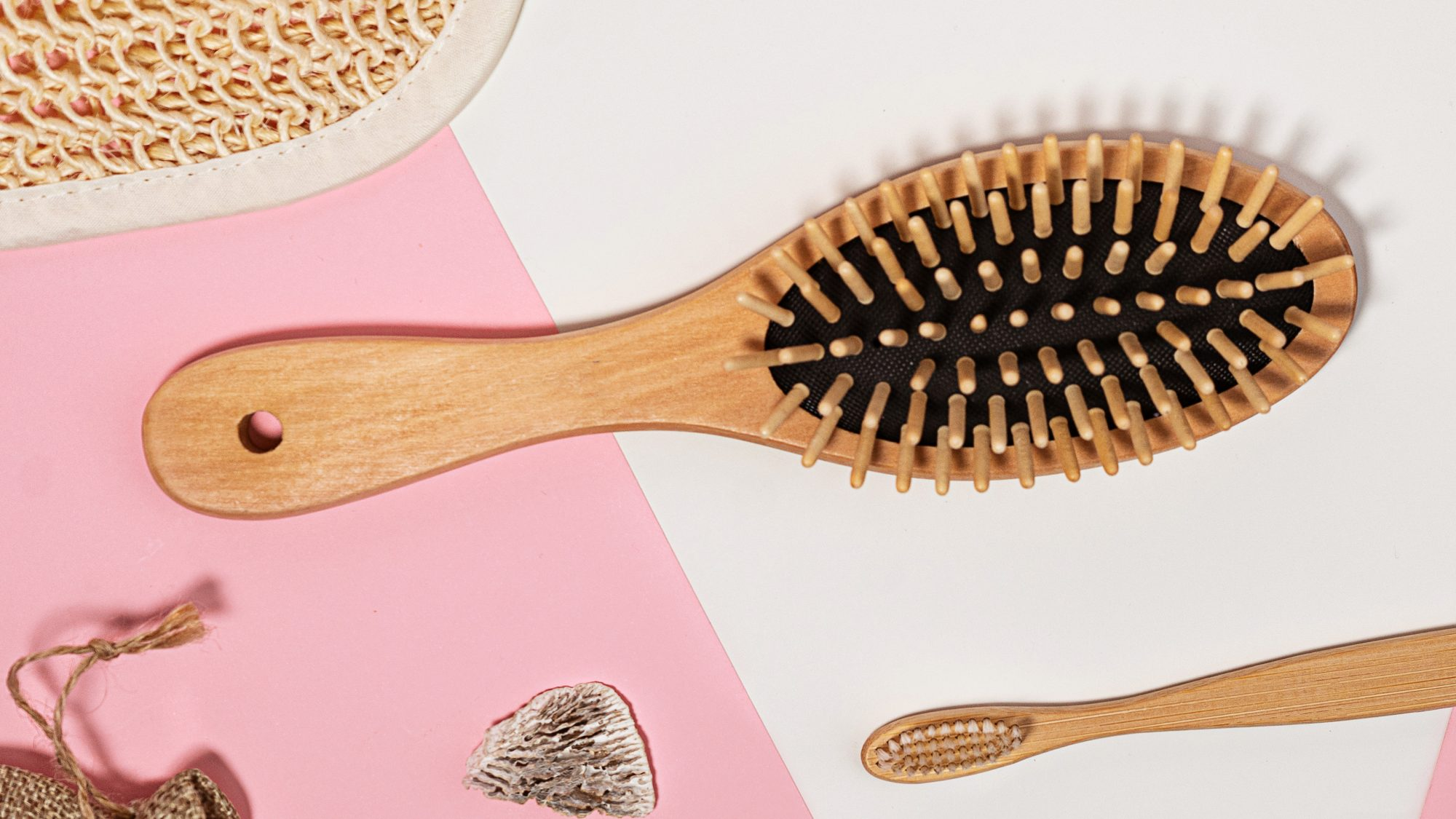 when-to-replace-hairbrush: hairbrush with wood handle