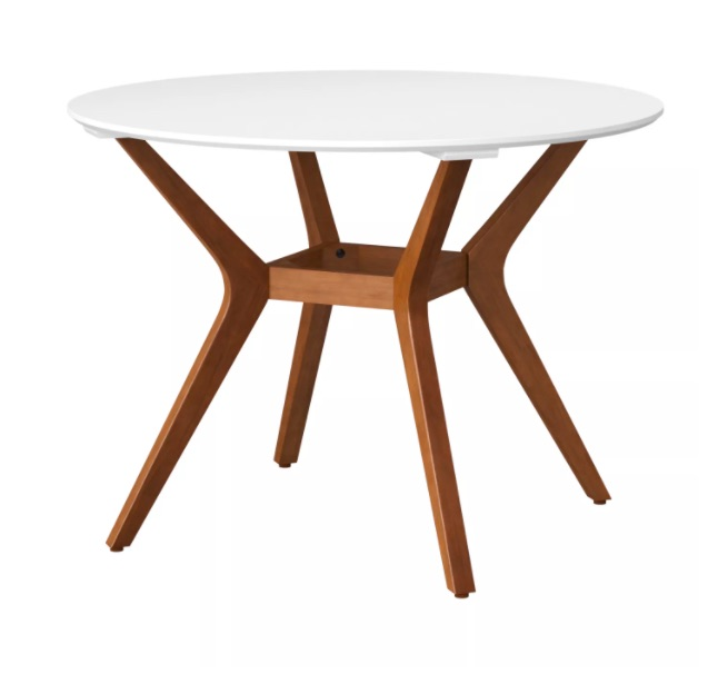 Target Mid-Century Modern Dining Table, White top with wooden base