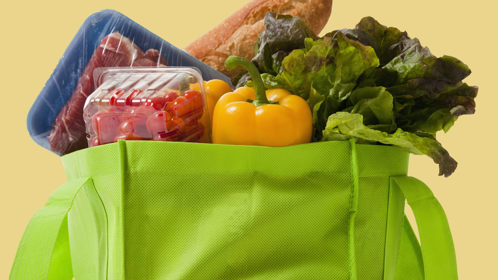 Instacart-shopping-tips: grocery bag with food