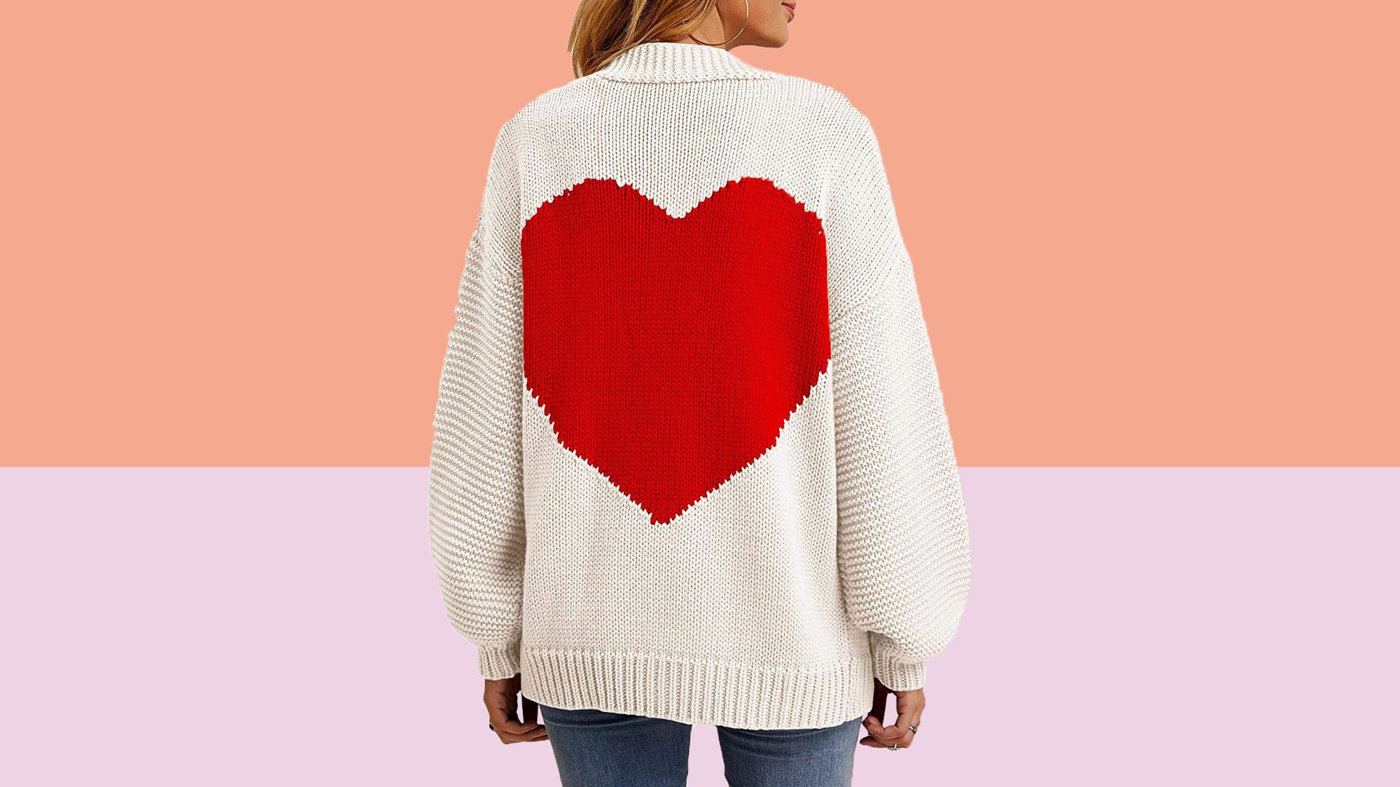 best last minute valentines day gifts 2021 Heart Sweater Amazon