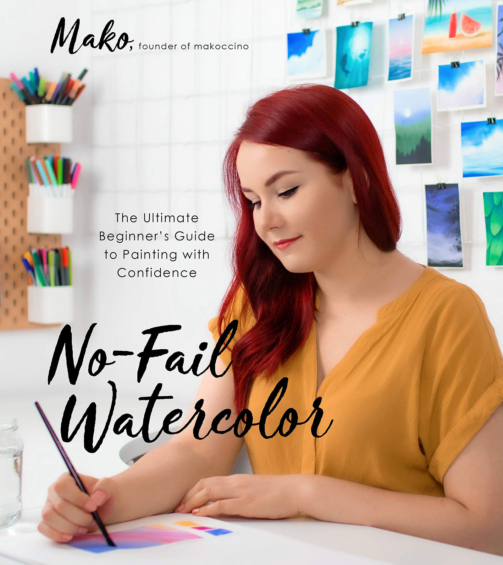Galentine's Day gift ideas - No-Fail Watercolor: The Ultimate Beginner's Guide to Painting with Confidence by Mako
