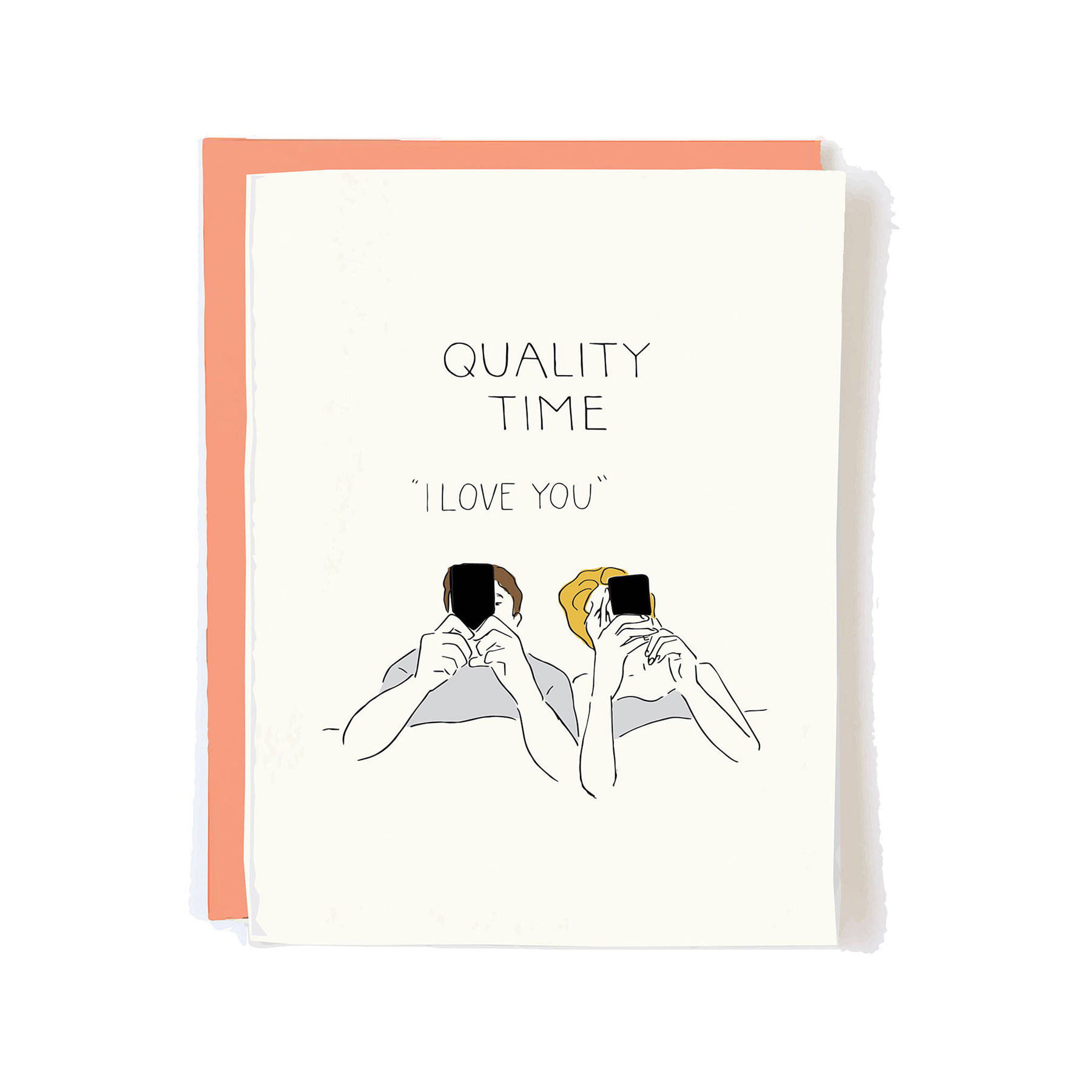 Funny Valentine's Day Gifts 2021: Urban Outfitters 'Quality Time' sarcastice Valentine's Day card