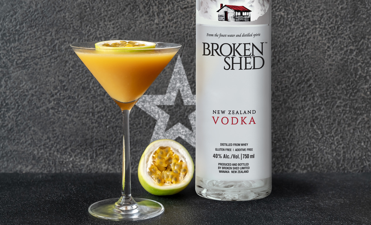 Passionfruit Martini from Broken Shed vodka