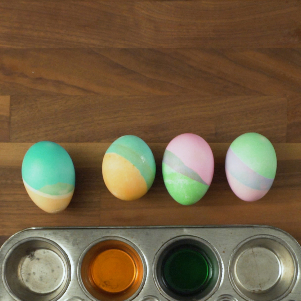 Easter egg ideas - Two-Tone Easter Eggs