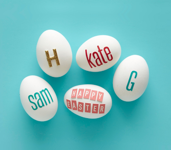 Easter egg ideas - Personalized Eggs with letters