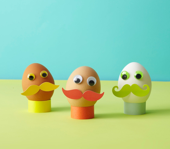 Easter egg ideas - Mustached Eggs