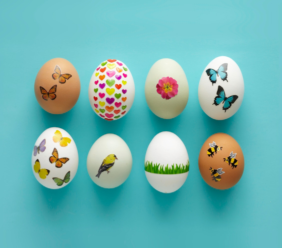 Easter egg ideas - Easter Eggs With Stickers