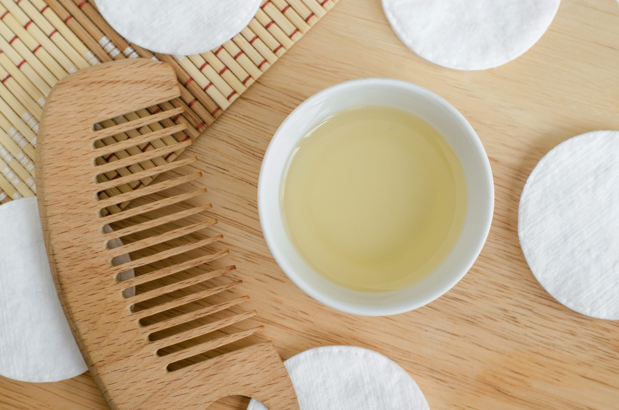 hot-oil treatment for hair: comb and oil
