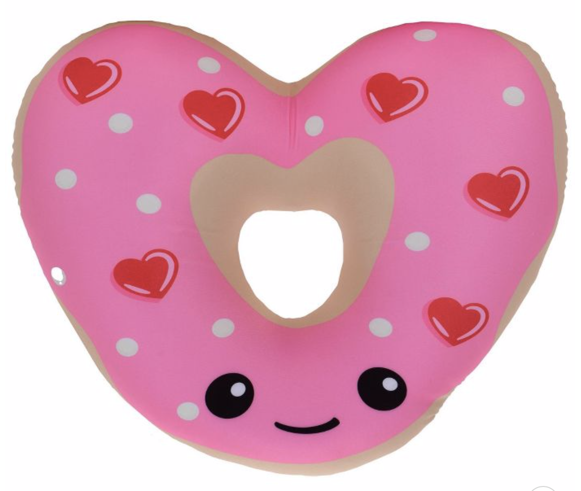 heart-shaped donut pillow for valentine's day
