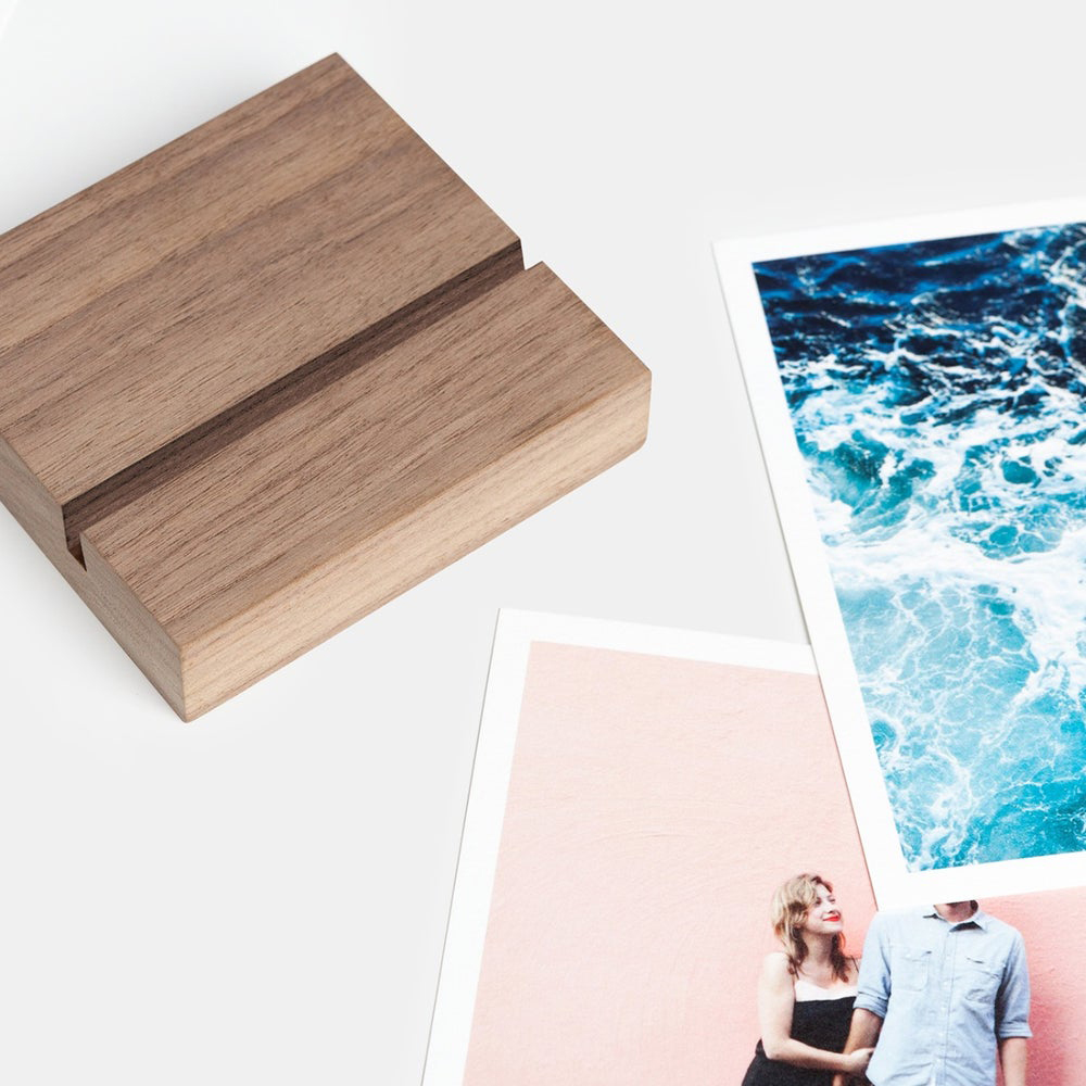 Best gifts for new moms - Best Gift for Working Moms: Artifact Uprising Walnut Block & Prints