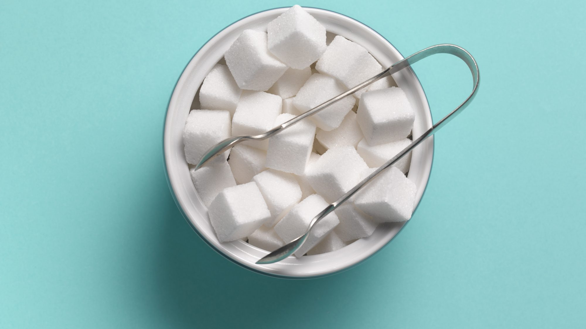 foods-that-never-expire: sugar cubes in a bowl