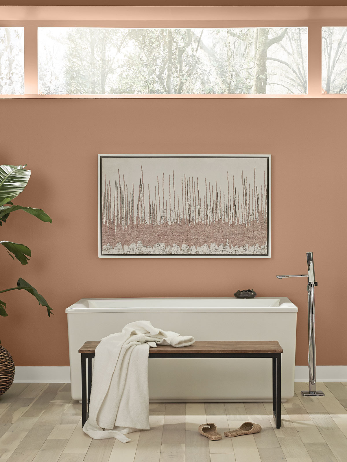 Behr Color of the Year, Canyon Dusk Bathroom