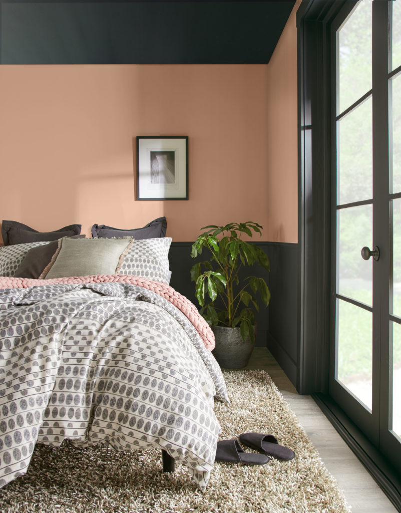 Behr Color of the Year 2021, Canyon Dusk Bedroom
