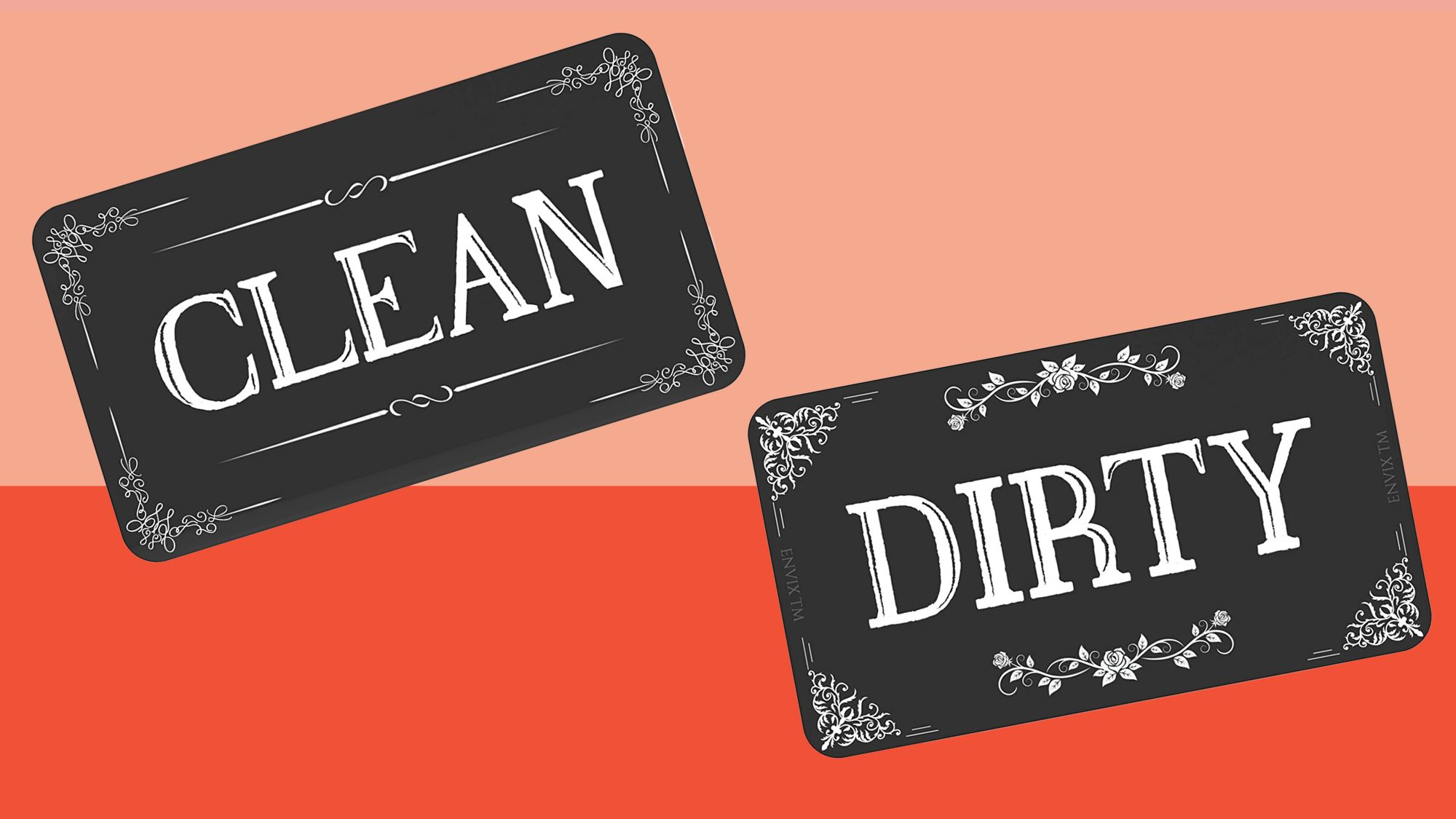 ENVIX Dishwasher Magnet Clean Dirty Sign