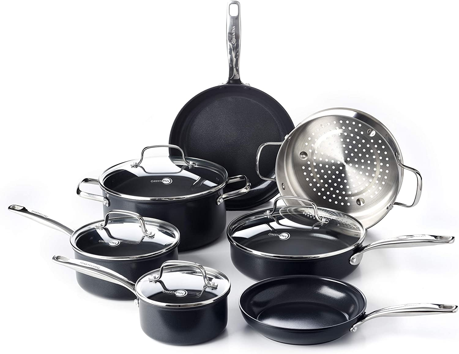 Amazon Life Changer, Green Pan Set of pots and pans