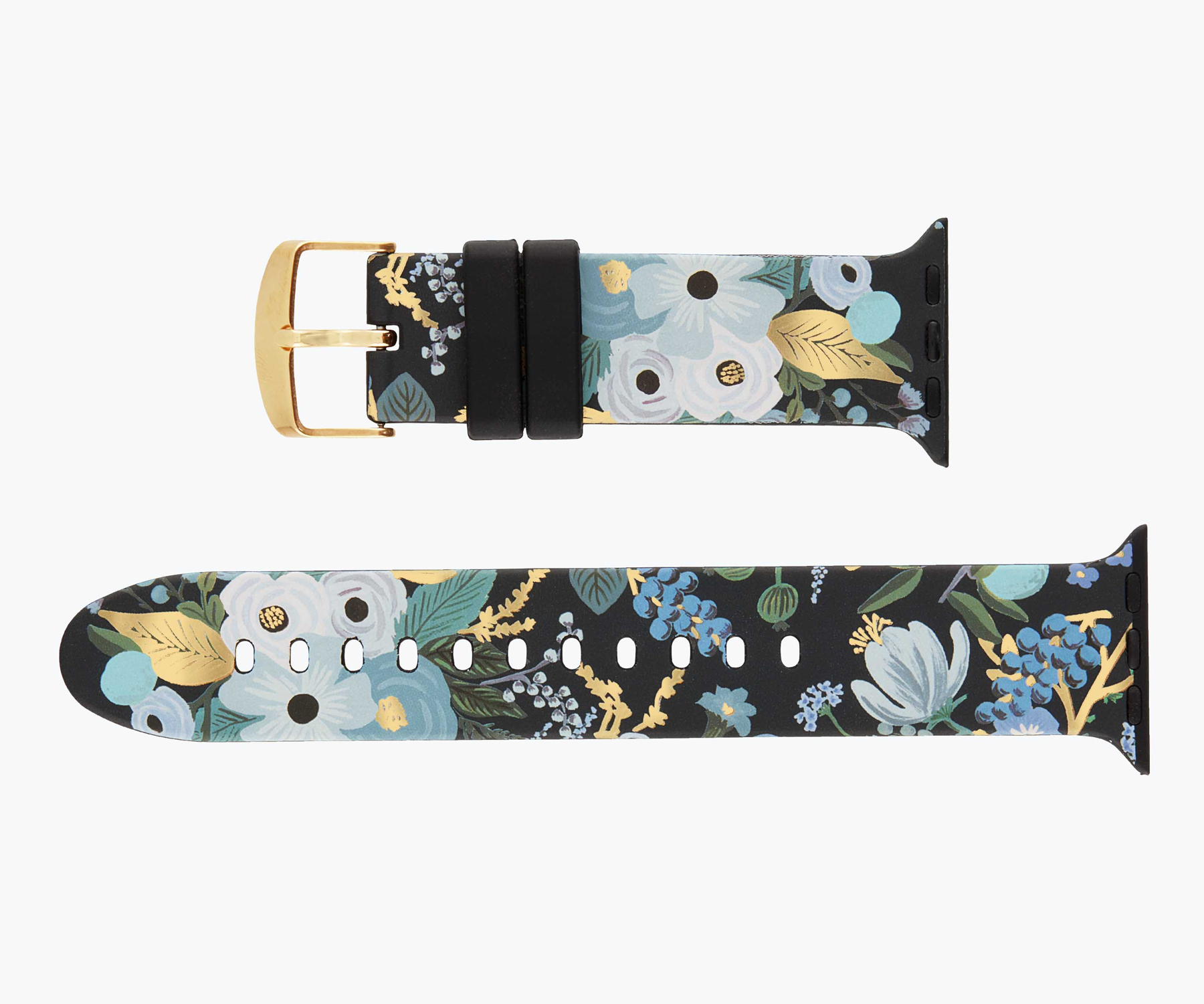 Mother's Day gifts ideas - Rifle Paper Co. Garden Party Blue Apple Watch Band