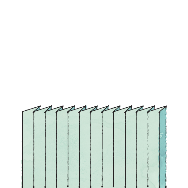 Types of pleats - Crystal Pleat picture