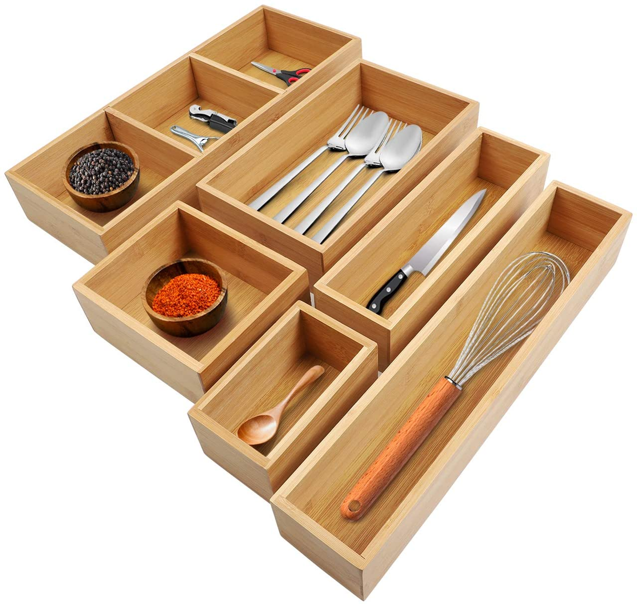 Simply Video, Bamboo Kitchen Drawer Divider