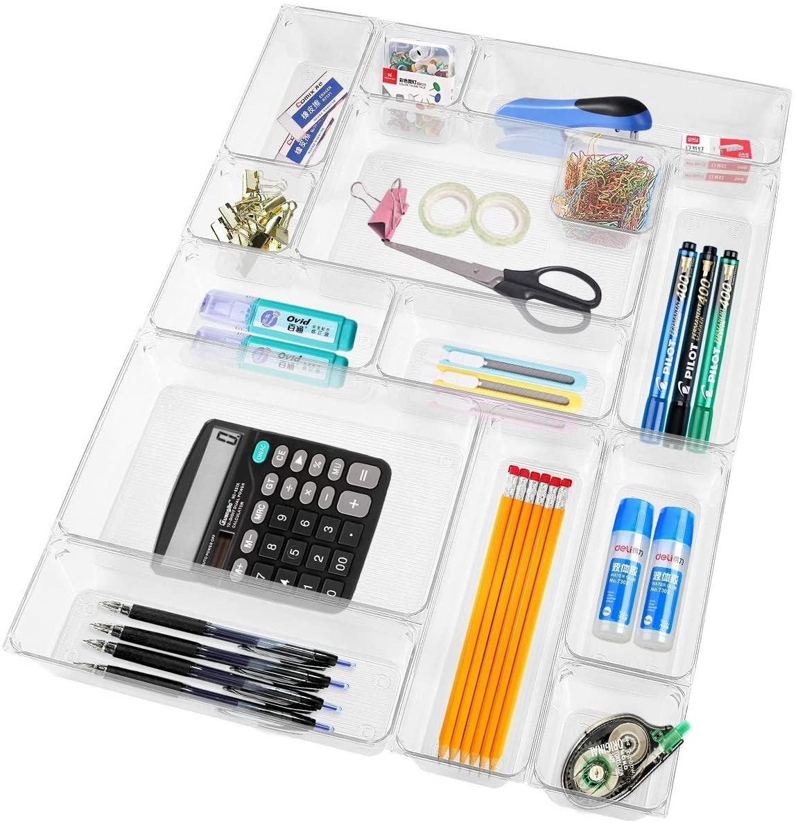 Simply Video, Clear Acrylic Junk Drawer Organizers