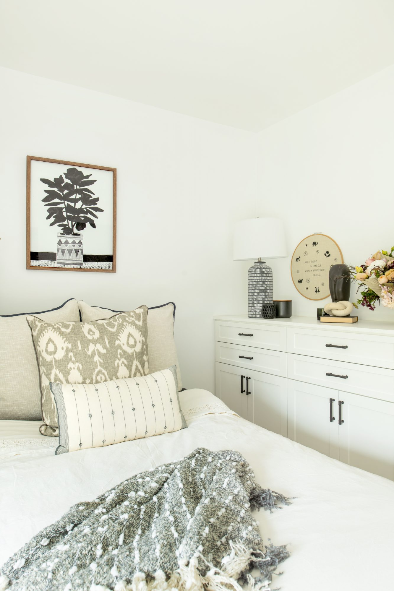 Space of the Week, Cozy Guest Bed with Neutral bedding