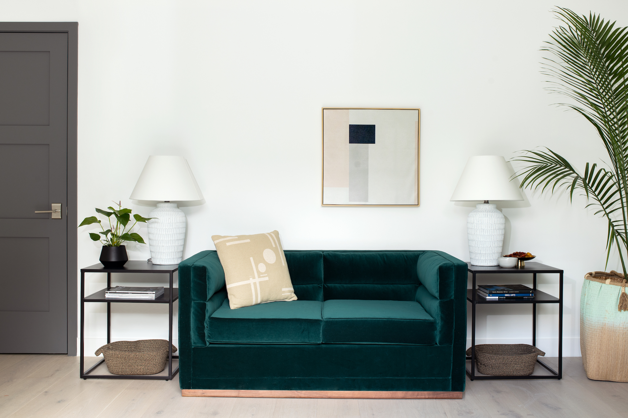 Space of the Week, Guest Room Teal Sofa