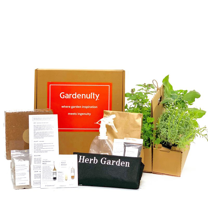 Best gifts for girlfriends - Gardenuity Culinary Herb Garden Kit With Plants