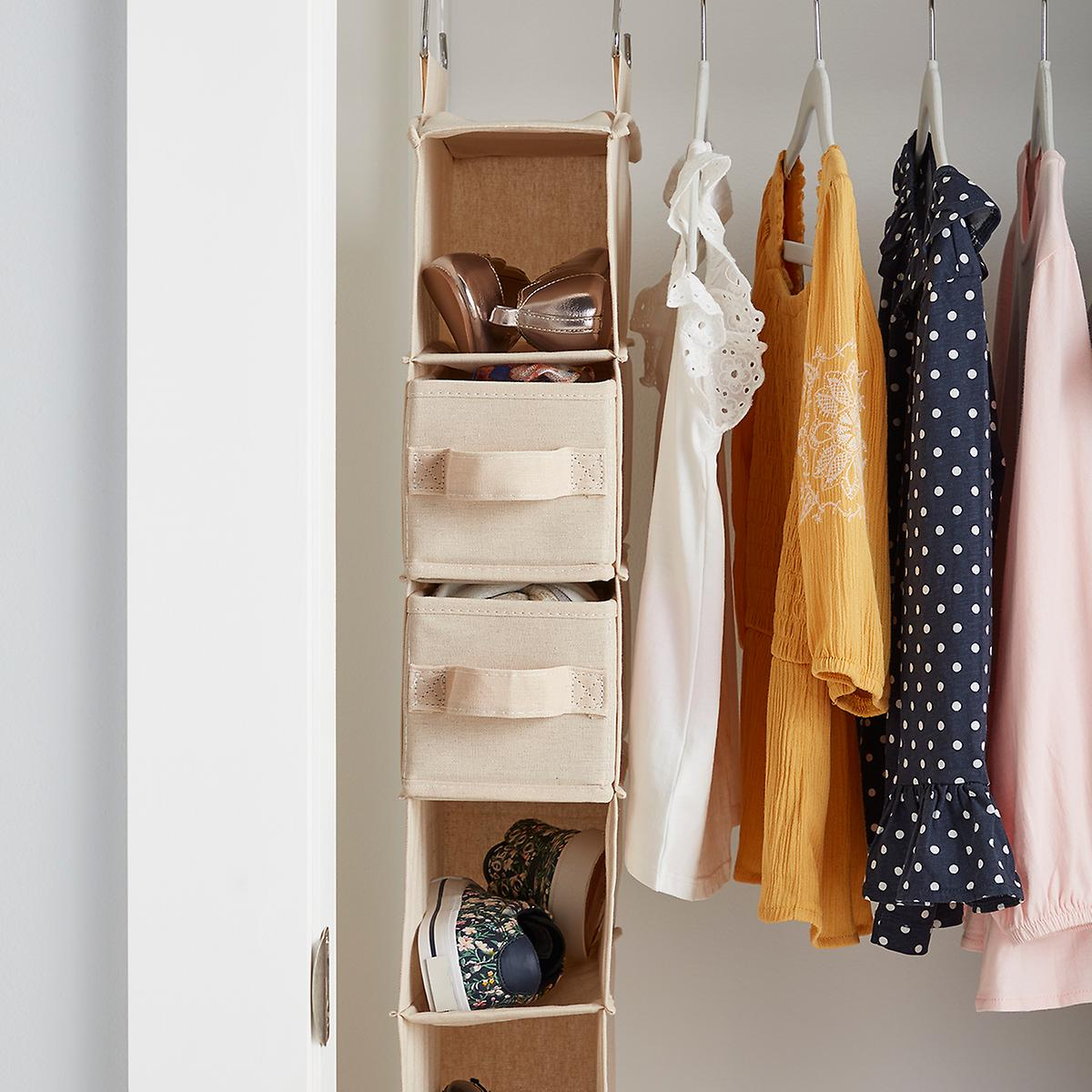 Hanging Shoe Organizer in Closet