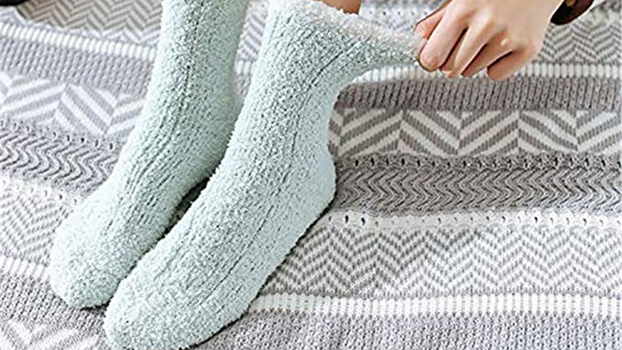 Fuzzy Warm Slipper Socks Women Super Soft Microfiber Cozy Sleeping Socks