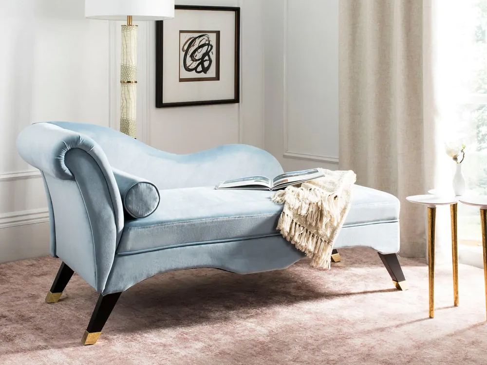 Bridgerton Regency Core Blue Velvet Sofa
