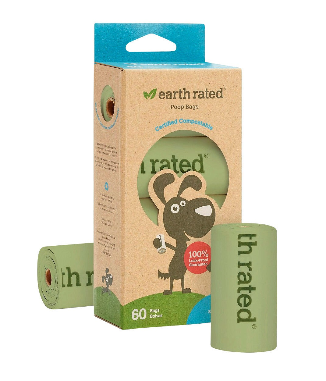 Earth Rated Poop Bags 60 count pack