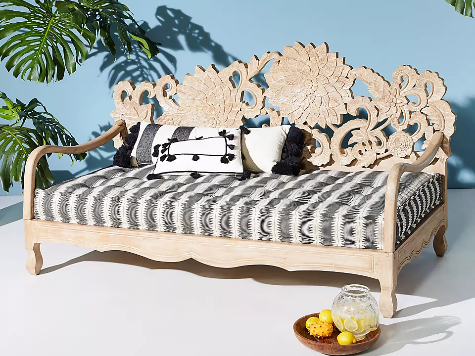 outdoor-daybeds-patio: Handcarved Lotus Daybed
