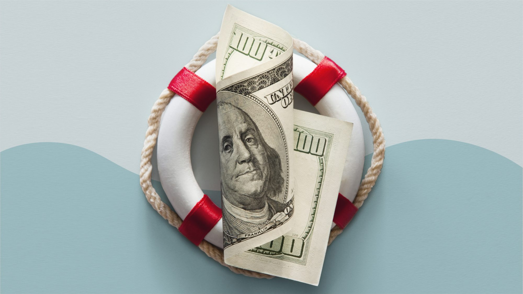 American rescue plan - stimulus checks, child tax credits, and more updates: $100 bill and life preserver