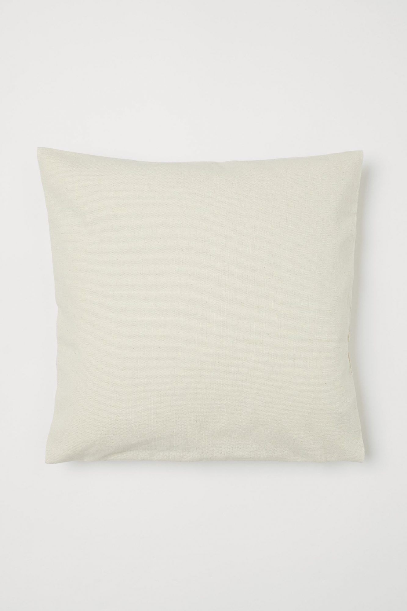 Beige Cotton Cushion Cover