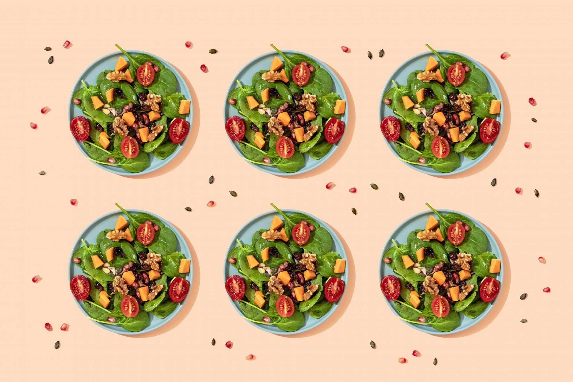 dietary-microtation: 6 plates of the same meal