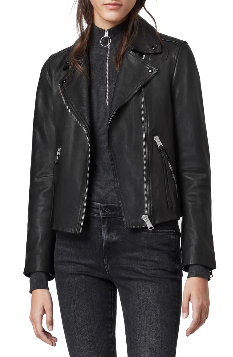 best-moto-jacket-AllSaints Dalby Leather Biker Jacket