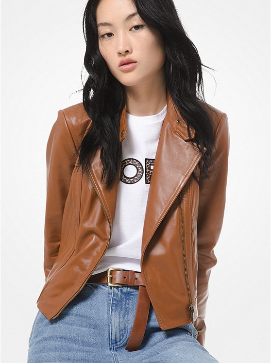 best-moto-jacket-Michael Kors Leather Moto Jacket