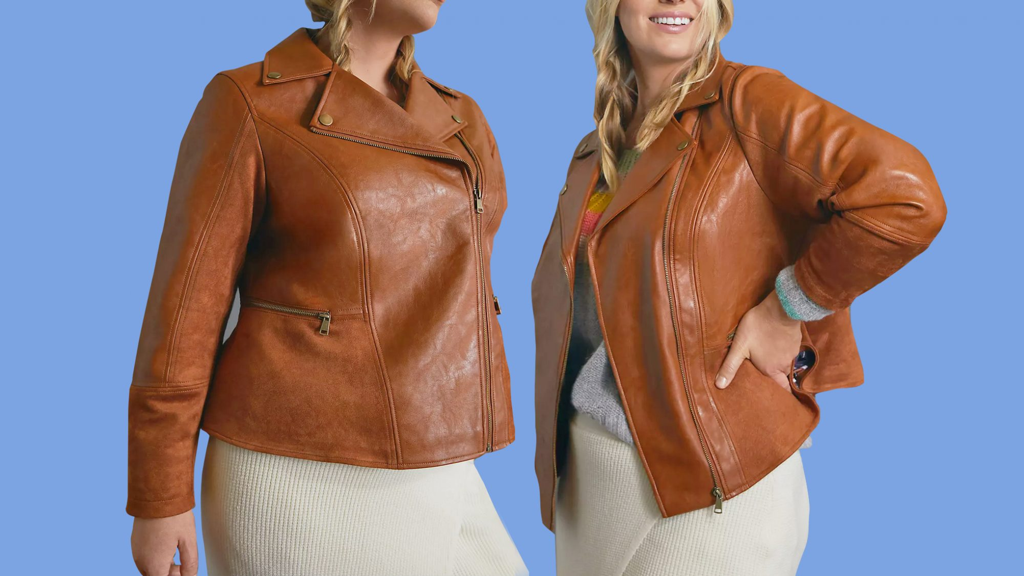 best-moto-jackets: Robyn Faux Leather Moto Jacket