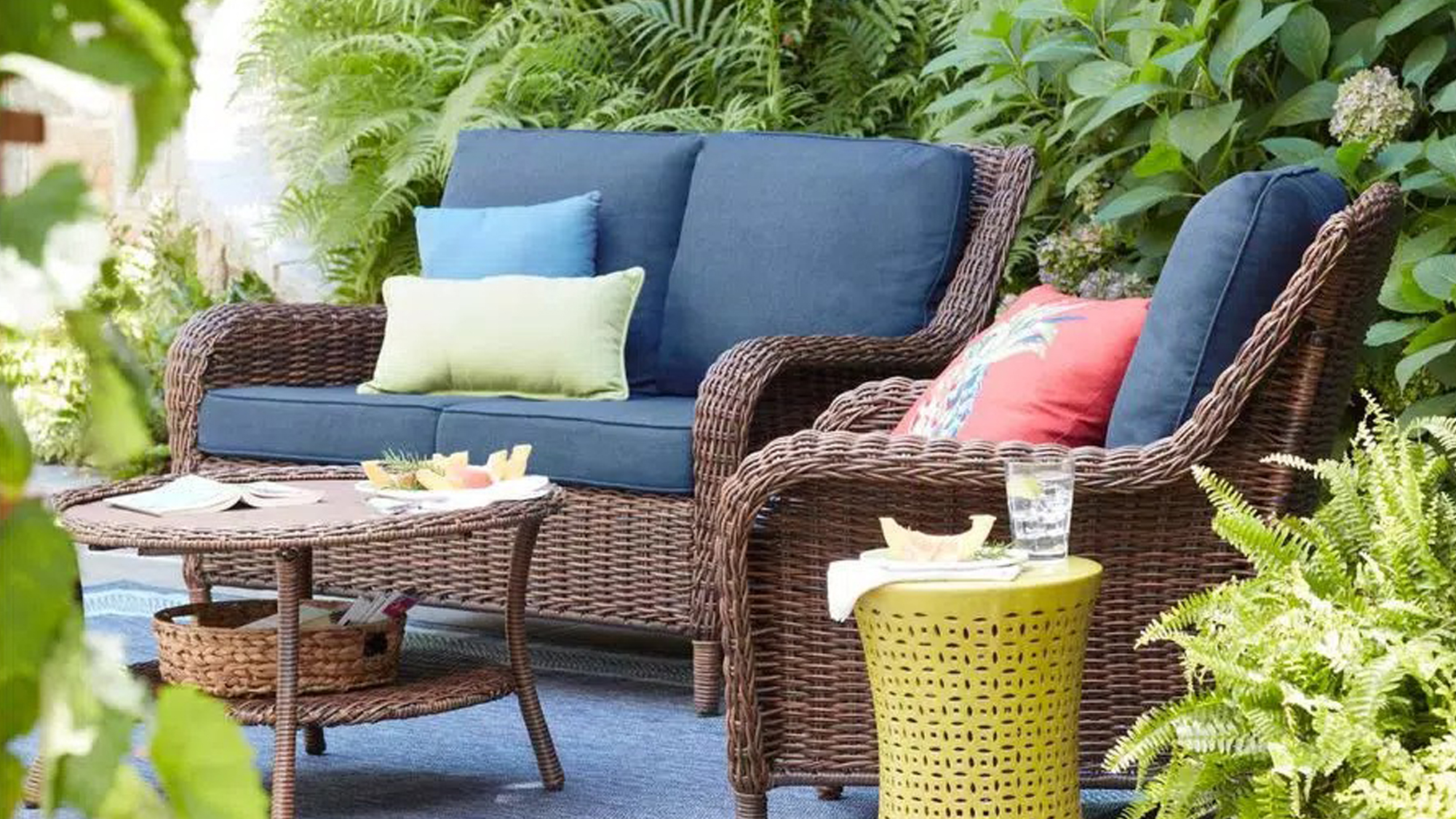 Cushioned Chat Set: best places to buy outdoor furniture